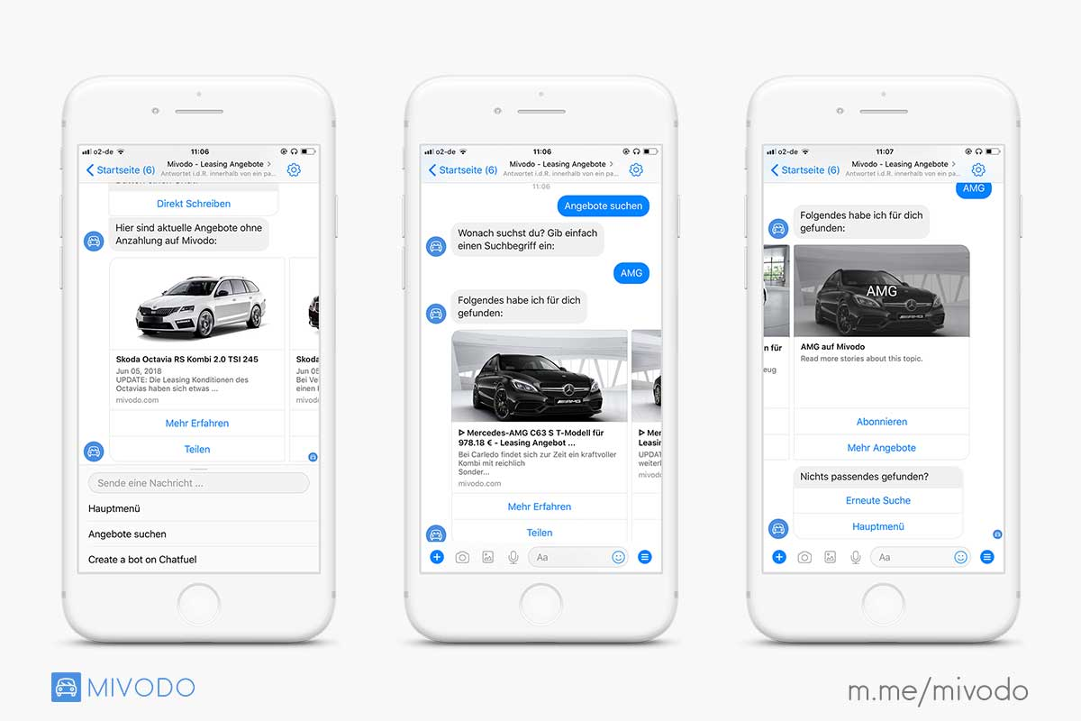 leasing angebote fb messenger bot