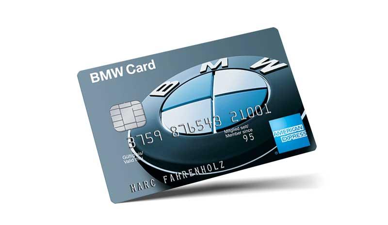 bmw tankkarte privat amex