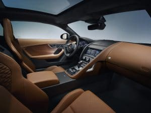 Das Interieur in braun jaguar f-type 2020
