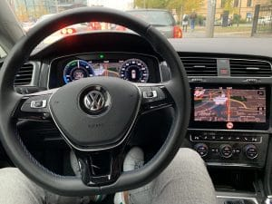 vw eGolf interieur
