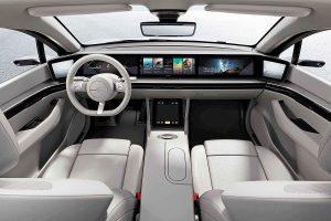Interieur Sony Elektrofahrzeug
