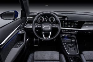 Audi A3 Sportback 2020 Lenkrad und Cockpit