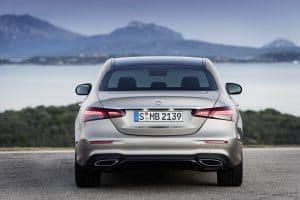 Mercedes E-Klasse Facelift 2020 Exterieur Heck mit Leuchten
