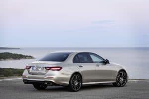 Mercedes E-Klasse Facelift 2020 Exterieur Heck Seitenansicht