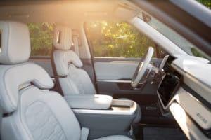 Rivian R1S E-SUV Interior Copyright Rivian