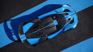 Bugatti Bolide Draufsicht